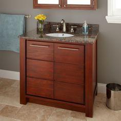 36 venica mahogany vanity cabinet with undermount sink