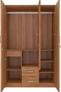 Wall Wardrobe Design, Wardrobe Interior Design, Wardrobe Door Designs, Bedroom Closet Design, Bedroom Furniture Design, Closet Designs, Diy Furniture, Room Door Design, Kitchen Room Design