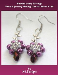 Beaded Leafy Earrings Beading & Jewelry Making by XQdesigns, $2.99