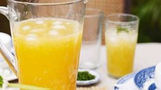 Lychee and peach punch - a refreshing summer drink.