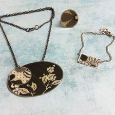 Jewelry Set ref.415-10  Necklace Bracelet & Ring  by carlaamaro