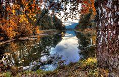 In den Feriendörfern erstrahlt der Herbst mindestens genauso bunt. Hier: Naturschutzgebiet Gaissau, Inzing. Innsbruck, All Pictures, Bunt, River, Fall, Outdoor, Pictures, Getting Older, Nature Reserve