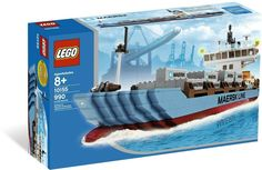 LEGO Set Maersk Line, More than 550 Maersk Sealand cargo liners sail the seas, carrying valuable goods to ports in 130 countries around the world. Established in this company is headquartered in Copenhagen, Denmark a. Lego City Train, Lego City Police, Lego Boot, Maersk Line, Lego Indiana Jones, Lego Ship, Buy Lego, Lego Worlds, Lego City