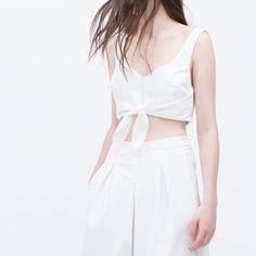Zara Tie Front Top Zara Tie Front Top/ Size S Zara Tops