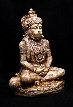 "Hand Carved Meditating God Hanuman Resin Idol Sculpture Statue Size 6""x4"" Krishna Mart India http://www.amazon.com/dp/B00CZ9CHW8/ref=cm_sw_r_pi_dp_mArHvb1TM09MM"