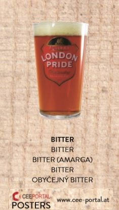 BITTER BITTER (AMARGA) OBYČEJNÝ BITTER London, Bitter, Pint Glass, Tableware, Foods, Dinnerware, Beer Glassware, Tablewares, Dishes