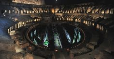 Colosseo - special lights for Easter celebrations