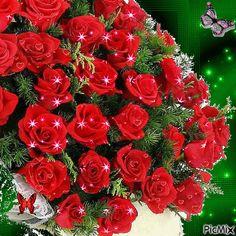 Gif Animado De Un Ramo de Rosas Para Mandar Por Whatsapp