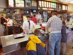 People eating out at a fast food restaurant Norway Food, Denmark Food, Belize, Panama Recipe, Honduras Food, Hungary Food, Romania Food, Nigeria Food, Netherlands Food