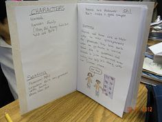 A journal foldable...great for a novel study!