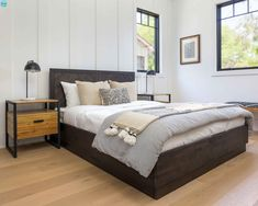 Restful Sleep Essential is a good bed that's stylish and dependable - This Wellington Queen bed set, hinges on clean lines profile and weave pattern wood panels in an elegant Dark Brown finish. Includes 16 wooden slats for sturdy mattress support. -NPD Furniture #newpacificdirect #interiordesigner #refreshyourspace #bedroomdecor Furnishings, Home Bedroom, Cool Beds, Wholesale Furniture, Bedding Sets, Bed, Home Furniture, Bedroom Decor, Transitional House