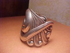 SPECTACULAR HUGE CINI STERLING REPOUSSE CUFF