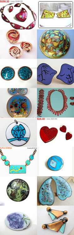 Have A Copper Enamel Christmas  by dianadivine on Etsy--Pinned with TreasuryPin.com