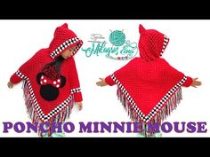Minnie Mouse, Balloons, Crochet Hats, Youtube, Sleeves, Fashion, Outfits, Crochet Baby Clothes, Crochet Shawl