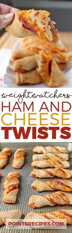 Ham and Cheese Twists (Weight Watchers SmartPoints)
