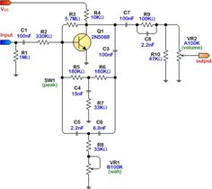 simple wah schematic - Google Search