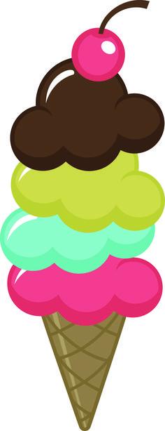 Cute Clipart ❤ ICE CREAM CONE