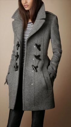 Cozy Burberry Toggle #Coat #warmth #fashion