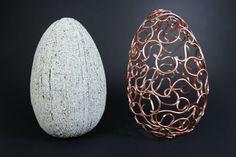 Make an Egg-xtraordinary Copper Wire & Faux Granite Egg