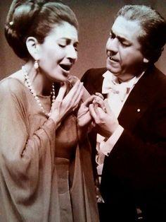 M.Callas con Giuseppe Di Stefano