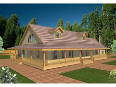 One story country house plans with wrap around porch and for Acadian style modular homes