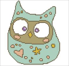 Baby Owl - Cross Stitch Hand Embroidery Pattern - Instant Download Counted Cross Stitch Embroidery Pattern - Gift for Kid