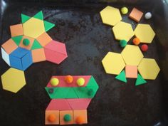 This is a scene from Flatland, the Movie, recreated by a child using magnetic tiling blocks.