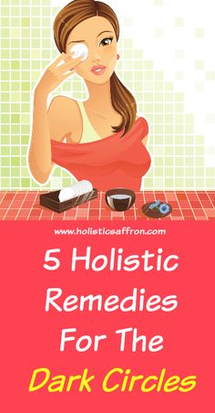 Natural Holistic Remedies 5 Holistic Remedies For The Dark Circles- Home Remedies Holistic Remedies, Health Remedies, Home Remedies, Natural Remedies, Coconut Oil Beauty, Beauty Recipe, Dark Circles, Natural Skin Care, Natural Beauty