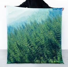 Manner Market Silk Emerald Forest Scarf
