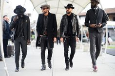 """GREAT Men's styles - mostly suits, but some great street styles - """"Pitti Uomo Fall 2015 - Pitti Uomo Fall 2015 Street Style #ALFAIATARIAS #COUROS #TotalBlack #FocusTextil"""
