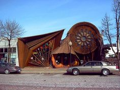 Unique house architecture-carved wooden house