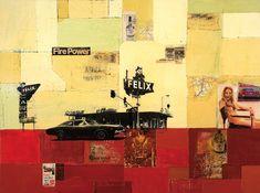 Robert Mars  Fire Power 2008  36'' x 48''  Mixed Media