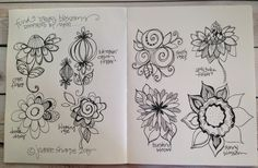 """PART TWO: Draw Inspired Blossoms (video and photos) - LESSON FIVE: """"You Blooms"""" - Bloomin' Doodles"""