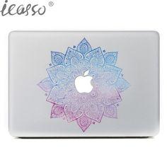 iCasso NEW Classical Flowers Laptop Skin Sticker Decal For Macbook Air Pro Retina 13 15 Macbook Sticker case notebook skin
