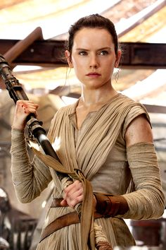 Star Wars VII: The Force Awakens. Rey played by Daisy Ridley.
