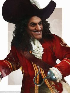 Hooked: Captain Hook goes from a pirate to almost princely in this dashing outfit