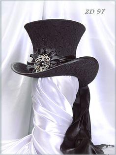 77364d1fac8 ZD97Damen-Zylinderladies  top hat Steampunk Top Hat