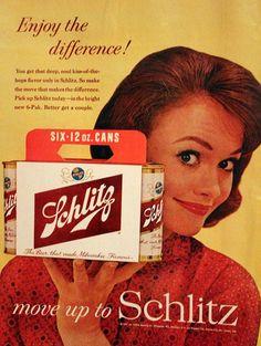 1961  Schlitz Beer Ad  Six Pack  Vintage by 3rdStVintagePaper