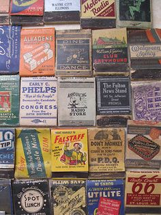 Vintage - Lot of matchbook covers