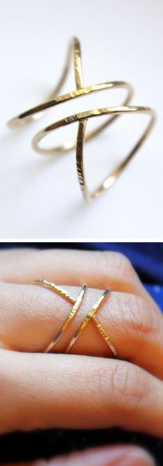 Hammered Siren Ring <3