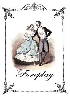 Victorian Dance   Vintage Image Notecard by hilarykay on Etsy, $2.80    #sex #dance #vintage #victorian #card #humor #jane austen era
