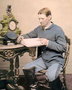 "Major Sergeant Thomas P ""Boston"" Corbett 8x10"" Hand Color Tinted Civil War Photo"