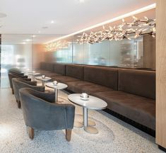 Ресторан Steirereck, Австрия. PANDOMO Terrazzo Dining Bench, Conference Room, Table, Furniture, Home Decor, Decoration Home, Table Bench, Room Decor, Tables