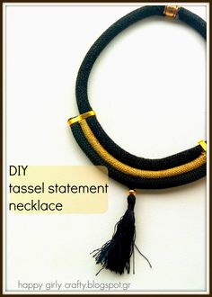 happy girly crafty: Tassel statement necklace DIY / Φτιάξτο μόνη σου : statement κολιέ!