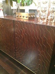 Faux Bois Console with metal faux bois detail from Emporium Home #materialmarriage #hpmktss #hpmkt