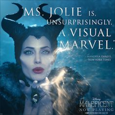 Give us your one-word Maleficent review. Go!