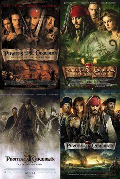 Piratas del Caribe (2003) (2007) (2009) i (2011)