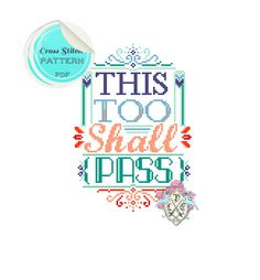 This too shall pass. Typography Cross by plasticlittlecovers