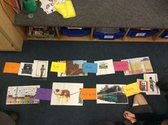 Year 1 use pictures to sequence a story, thinking about time openers to order. this gets them ready for writing.