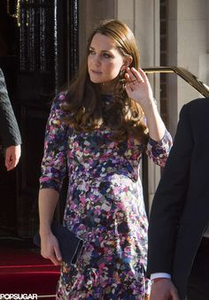 Pregnant Kate Middleton at the Goring Hotel 150 yr celebration March 2015